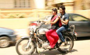 Archi and Parsha on the bike Sairat