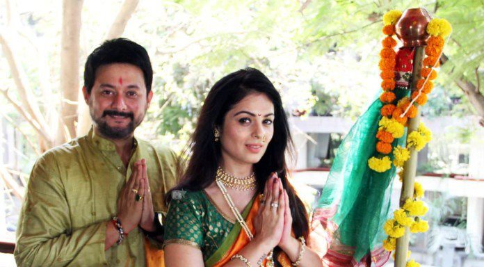 Swapnil and Anjana celebrate Gudi Padwa