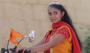 rinku rajguru driving bullet bike in