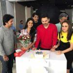 Siddharth Chandekar birthday Celebration To 'BUS STOP' Marathi Movie Stars